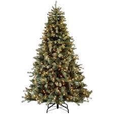 martha stewart living 7 5 ft indoor pre lit lakewood blue spruce