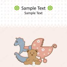 baby shower card u2014 stock vector 578foot 4211425