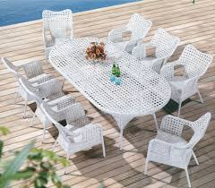 snowy style outdoor wicker dining table set snowy style outdoor