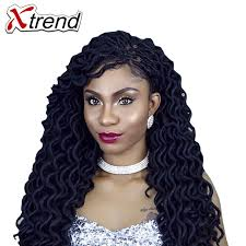 crochet braid hair xtrend 2x faux locs crochet braid hair extensions 20inch 24stands