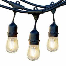 Led Outdoor Patio String Lights Outdoor String Lights For Patios Cafes Backyards Edison Led
