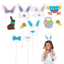 easter photo props easter photo booth egg hunt party stick props