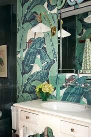martinique u0027 banana leaf wallpaper bathroom wallpaper