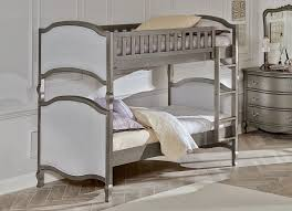 NE Kids Victoria Twin Upholstered Bunk Bed Antique Silver Kids - Ne kids bunk beds
