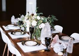 Black Gold Wedding Decorations Black Gold Geometric Wedding Inspiration Green Wedding Shoes