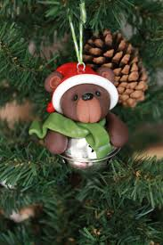 bear ornament polymer clay ornament christmas ornament