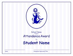 attendance award for elementary