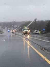 taunton municipal lighting plant update crews working to repair damage on route 44 in raynham john