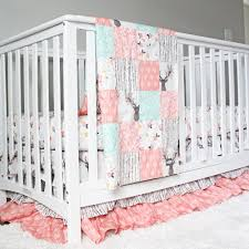 Girls Crib Bedding Tulip Stag Woodlands Bedding Baby Crib Bedding Cribs