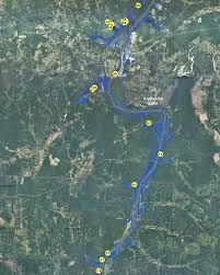map kentucky lakes rivers localwaters kentucky lake maps boat rs tn