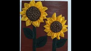 diy home decor how to make fabric sunflowers for wall decor