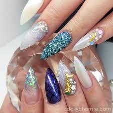 nail art decor mermaid iridescent glitter mix set 4 jars