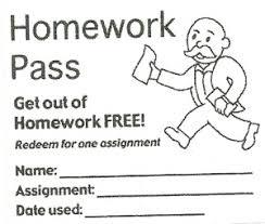 homework pass clipart