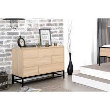 chambre style industriel namur commode de chambre style industriel décor bois l 120 cm