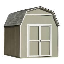 shop heartland ridgeview gambrel wood storage shed common 8 ft x