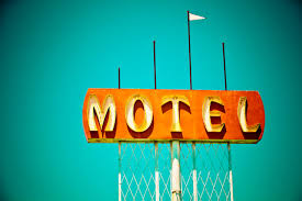 route 66 home decor mid century modern motel sign print mid century modern art