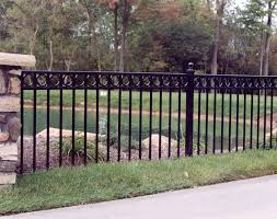 decorative aluminum fence with ornamental steel and ornamental