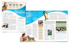 templates for newsletters physical therapist newsletter template design