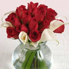 Red Roses Centerpieces Wedding Table Centerpiece Red Roses U0026 Calla Lilies 12 Centerpieces