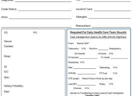 Nursing Report Sheet Templates Nursing Handoff Report Template Business Template
