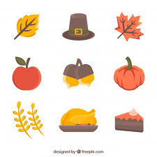classical thanksgiving elements vector free