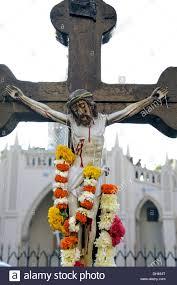 jesus christ on cross mount mary church bandra mumbai maharashtra