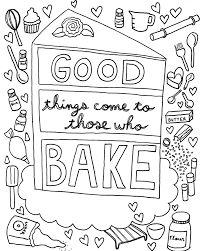 download a free coloring book page designed just for cake