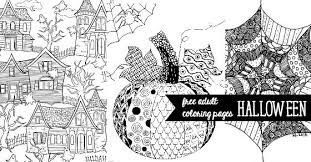 halloween coloring pages adults printable images kids aim