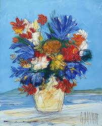 Flowers In A Vase Images Gérard Gouvrant Flowers In A Vase Painting For Sale At 1stdibs