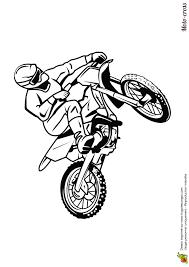 dessin à colorier moto cross sur circuit