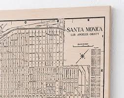 Home Decor Santa Monica Santa Monica Map Etsy