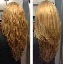 is v shaped layered look good for curly hair long wavy straight strawberry blonde hair with long layers and a v