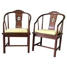 Henredon Bedroom Furniture Used Henredon Horseshoe Back Chairs Pair Chinoiserie Custom