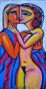 sensual paintings for the bedroom sensual art couple oil painting canvas love oil painting original