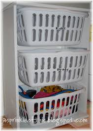 laundry hamper organizer a sprinkle of this laundry room mud room organization