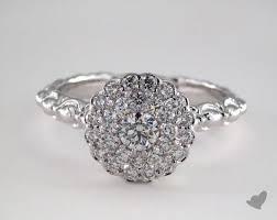 scalloped engagement ring jewelry royal halo platinum royal scallop halo