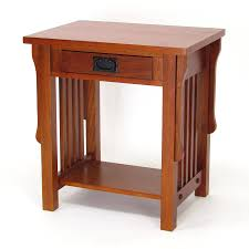 shop wayborn furniture mission oak birch nightstand at lowes com