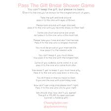 kitchen tea game ideas pass the gift bridal shower game free printable http chasingayden