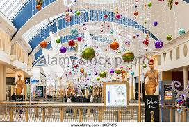 Large Christmas Decorations For Shops by Christmas Decorations Shopping Centre Stock Photos U0026 Christmas