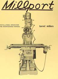 millport 2s mill parts operator u0027s manual ozark tool manuals u0026 books