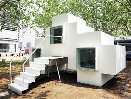 micro house design tetris like micro house can be stacked to form expanded housing