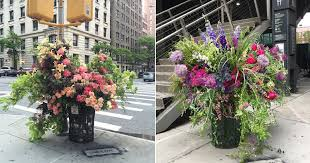 flowers nyc a team of florists been leaving bouquets around new