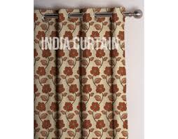 online presto rust color jacquard curtain india ready made presto