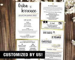 customized wedding programs custom infographic wedding program
