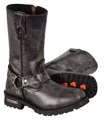 mens leather riding boots for sale men s motorcycle genuine leather distressed grey 11 inch boot