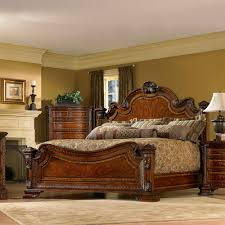 Wooden Bed Furniture Design Catalogue Old World Wood Panel Bed In Pomegranate Humble Abode
