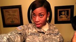 hairstyles for female army soldiers military hairstyle options for afro amer females youtube