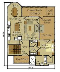 small house floor plans with porches small cottage plan with walkout basement cottage floor plan