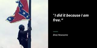 Standing Flag Banners Bree Newsome Activist Who Took Down Confederate Flag Says She