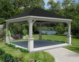 red cedar gable roof open rectangle pavilions pavilions by shape